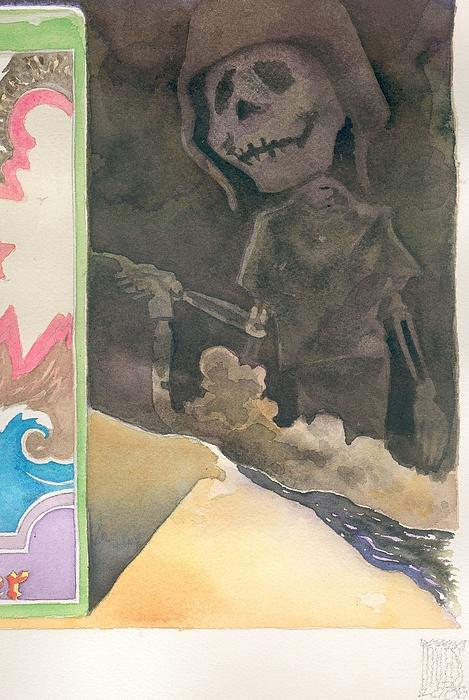 Detail Iraq Quagmyers Painting by Robert  Myers