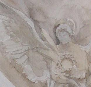 Detail Of Angel Pendentive At Monmartre Cathedral Painting by Scott Jones