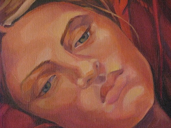 Detail Of Dreamer Painting by Julie Orsini Shakher