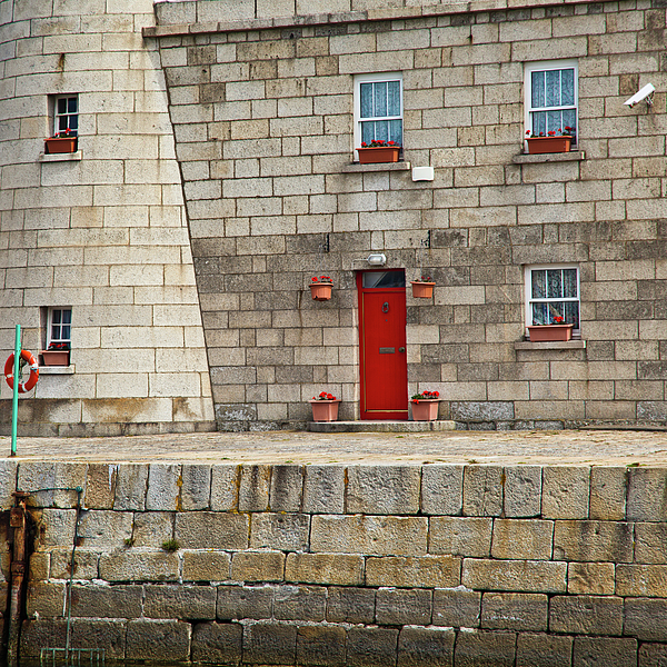 Lighthouse Photograph - Detail Of Howth Lighthouse by Gabriela Insuratelu