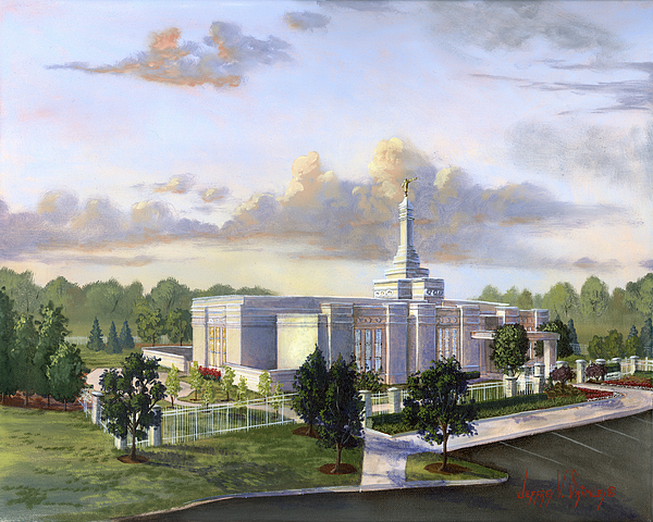 Detroit Michigan Temple Painting - Detroit Michigan Temple by Jeff Brimley