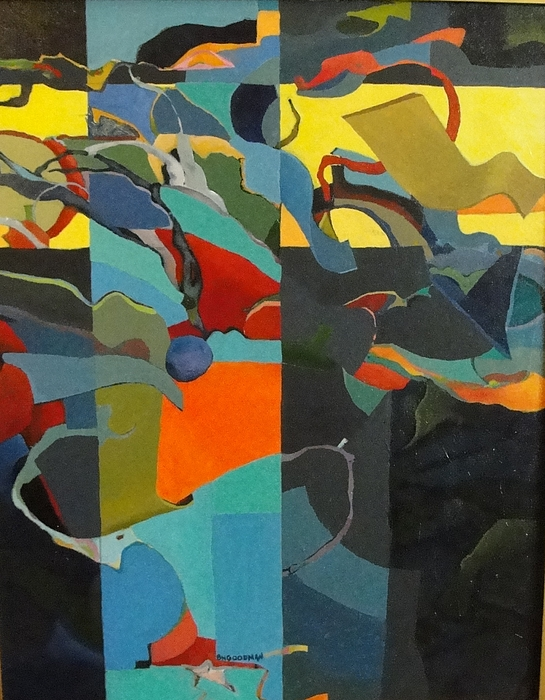 Abstract Painting - Deus Ex Machina by Bernard Goodman