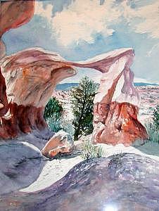 Devil Garden Arch Near Escalante Utah Print by Veda Hale