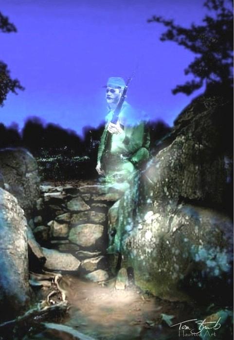 Gettysburg Digital Art - Devils Den Sentry by Tom Straub