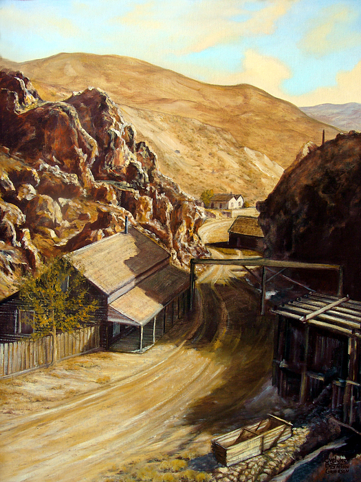 West Painting - Devils Gate Nevada by Evelyne Boynton Grierson