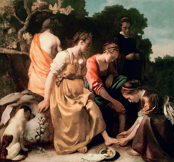 Diana And Her Companions Painting - Diana And Her Companions by Jan Vermeer
