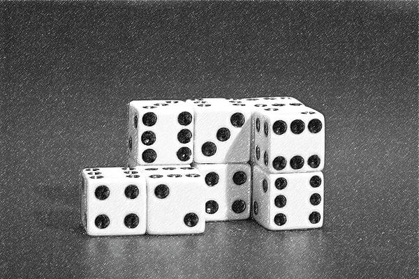 Dice Photograph - Dice Cubes II by Tom Mc Nemar
