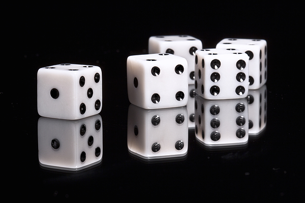 Dice Photograph - Dice II by Tom Mc Nemar