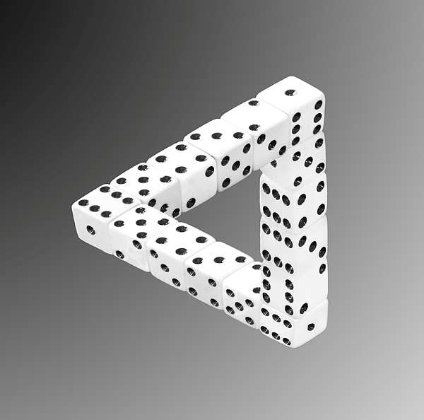 Optical Illusion Photograph - Dice Illusion by Shane Bechler