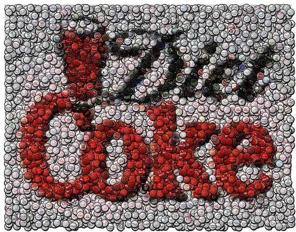 Diet Coke Digital Art - Diet Coke Bottle Cap Mosaic by Paul Van Scott