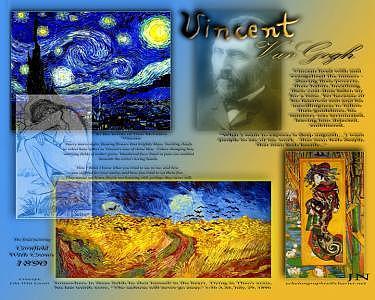 Digital Representation Of Van Goghs Work Digital Art by Lila Witt Locati