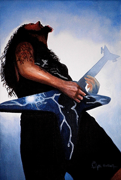 Dimebag Painting - Dimebag Is Gd Electric by Al  Molina