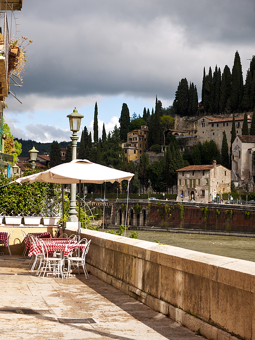 Verona Photograph - Dining With A View by Rae Tucker