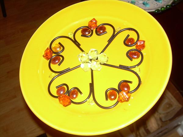 Flower Glass Art - Dinner Plate Flowers by Diane Morizio