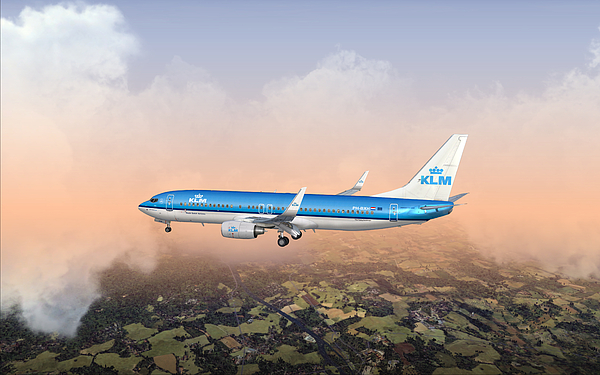 Airliner Digital Art - Dirty 737ng 28.8x18 by Mike Ray