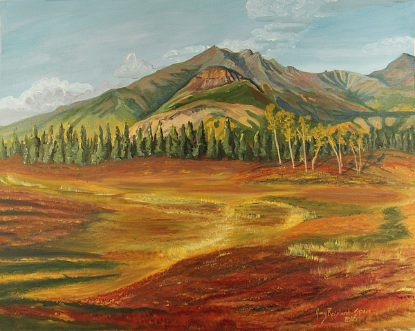 Landscape Painting - Disappearing Lake by Amy Reisland-Speer