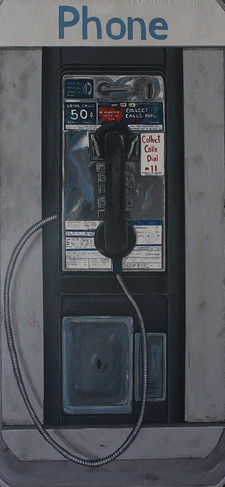 Payphone Painting - Disconnected by Jennifer Lynch