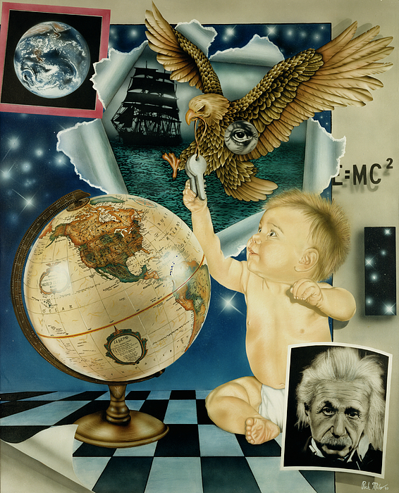Realism Painting - Discovery Of The New World by Rich Milo