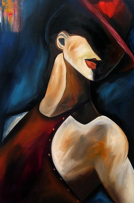 Abstract Art Paintings Painting - Discreet By Thomas Fedro by Tom Fedro - Fidostudio