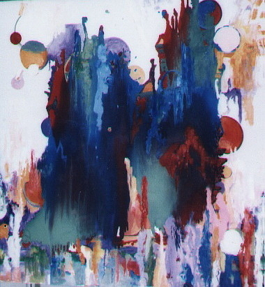 Abstract Painting - Distance by Hira Bosh
