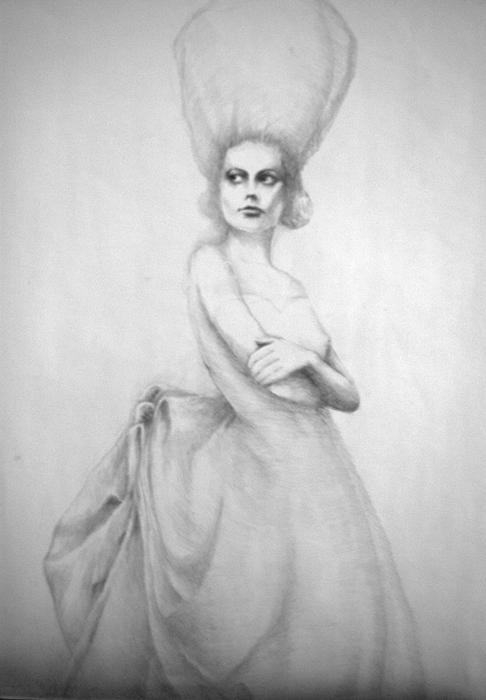 Drawing Drawing - Diva Belle by Jea DeVoe