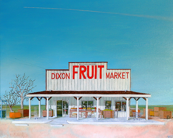 Fruit Painting - Dixon Fruit Market 1992 by Wingsdomain Art and Photography