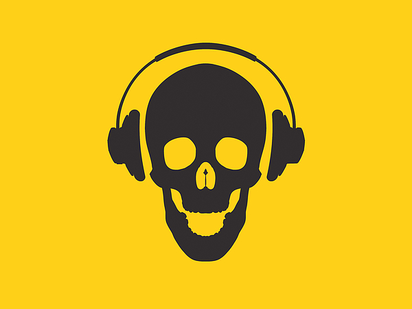 Skull Photograph - Dj Skeleton by Pixel Chimp