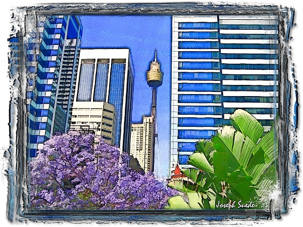 Spring Photograph - Do-00285 Sydney Centre Tower In Spring by Digital Oil