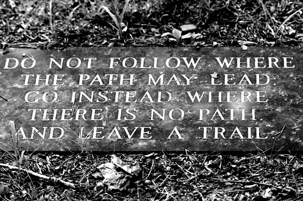 Monument Photograph - Do Not Follow Where The Path May Lead by Susie Weaver