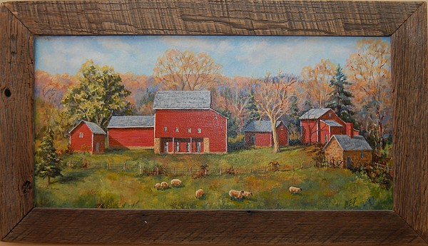 Farms Painting - Dobozynksi Farm Park by Inez Kline