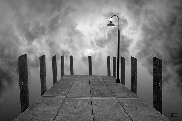 Dock Photograph - Dock And Clouds by Dave Gordon