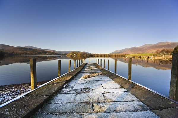 Color Photograph - Dock In A Lake, Cumbria, England by John Short