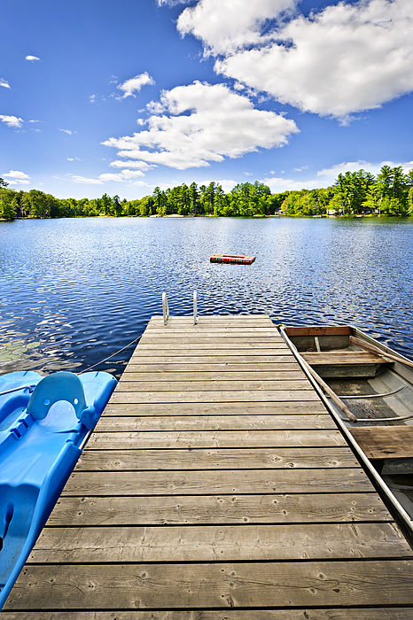 Dock Photograph - Dock On Lake In Summer Cottage Country by Elena Elisseeva
