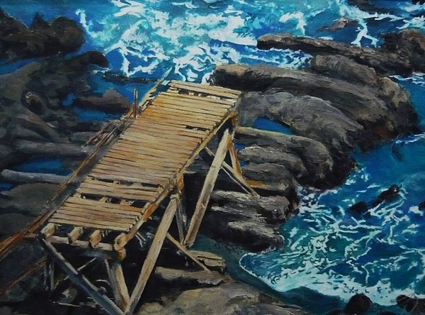 Dock Painting - Dock by Travis Day