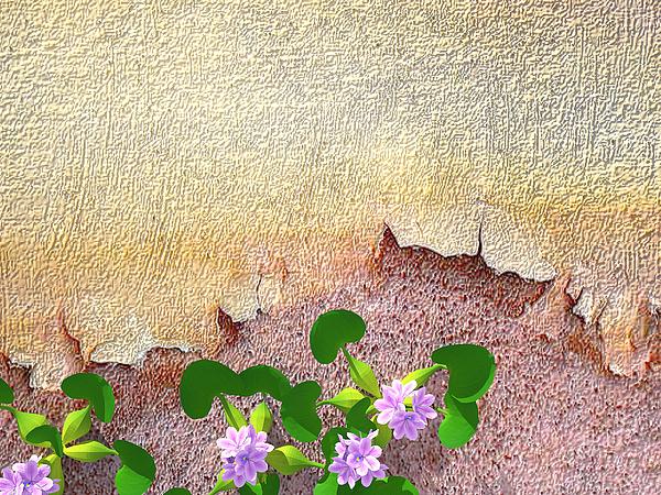 Flowers Digital Art - Dockyard Flowers by Jan Hattingh