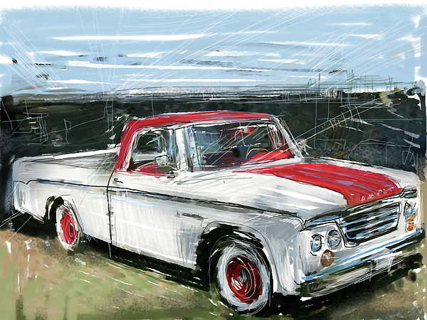 Dodge Mixed Media - Dodge Truck by Russell Pierce