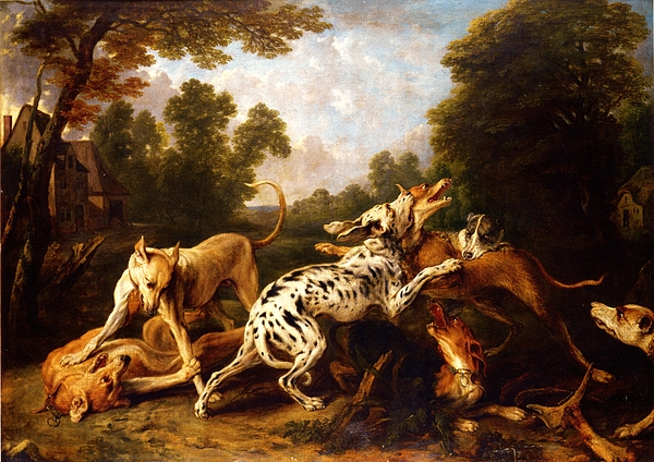 Pd Painting - Dogs Fighting by Pg Reproductions