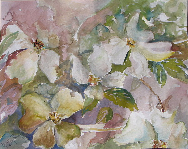 Dogwood Painting by Dorothy Herron