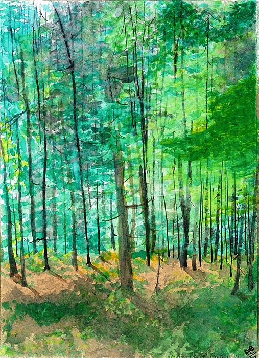 Landscape Painting - Dolly Sods Trees by David Bartsch