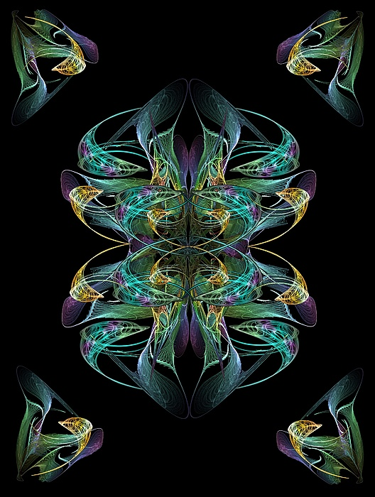 Dolphin Digital Art - Dolphin Dance Flower by Ricky Kendall