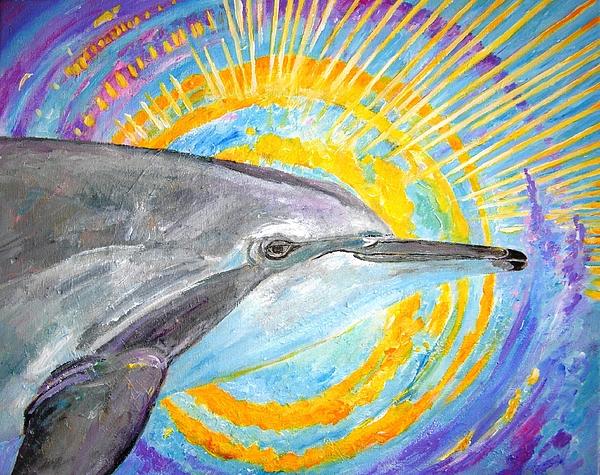 Dolphins Painting - Dolphin Ray by Tamara Tavernier