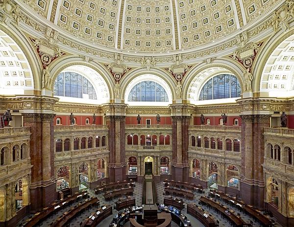 History Photograph - Domed Main Reading Room by Everett