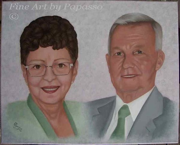 Human Painting - Don And Nancy by Kathie Papasso
