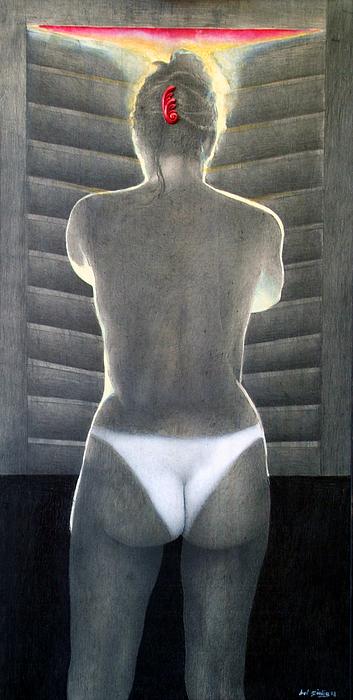 Donna Alla Finestra Painting by Amedeo Del Giudice