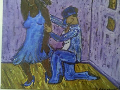 Couple Painting - Dont Go by Tatanisha Crockett