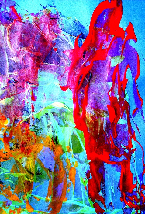 Abstract Painting - Dont Look Back by Bruce Combs - REACH BEYOND