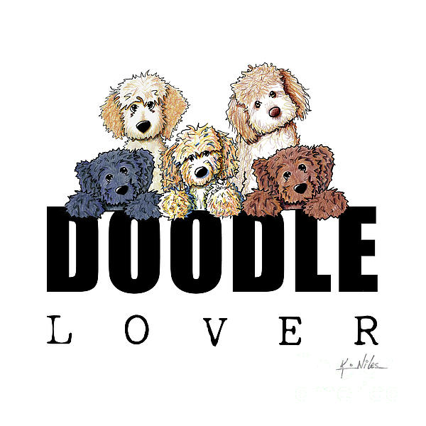 Doodle Drawing - Doodle Lover by Kim Niles