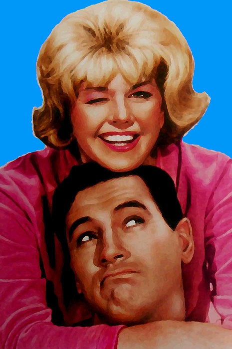 Pillow Talk Mixed Media - Doris Day Rock Hudson  by Paul Van Scott