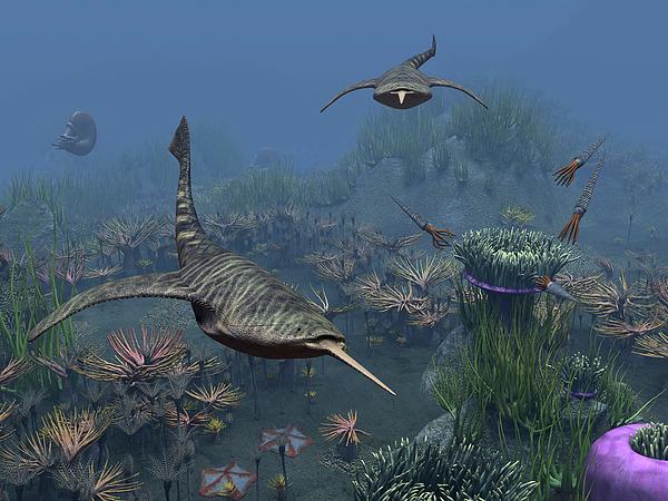 Earth Digital Art - Doryaspis Swim Amongst A Bed by Walter Myers