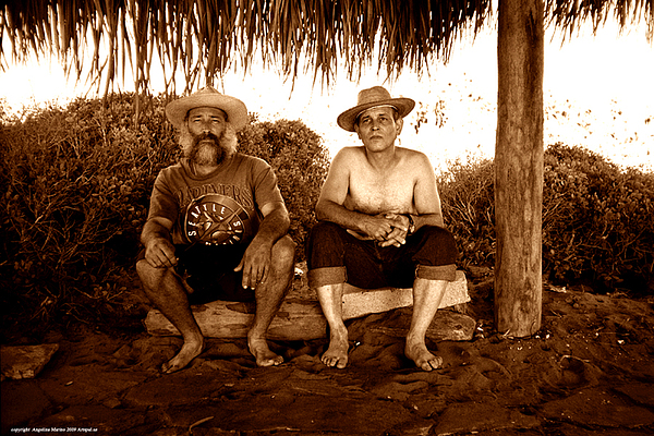 Mexico Photograph - Dos Hombres by Angelina Marino